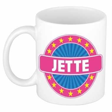 Voornaam jette koffie/thee mok of beker prijs