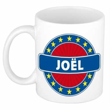 Voornaam joel koffie/thee mok of beker prijs