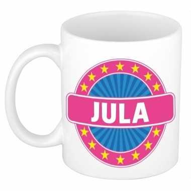Voornaam jula koffie/thee mok of beker prijs