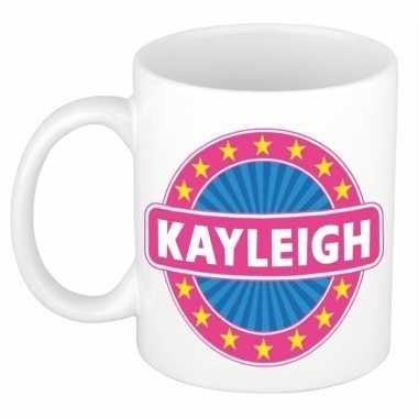 Voornaam kayleigh koffie/thee mok of beker prijs