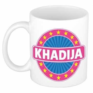 Voornaam khadija koffie/thee mok of beker prijs