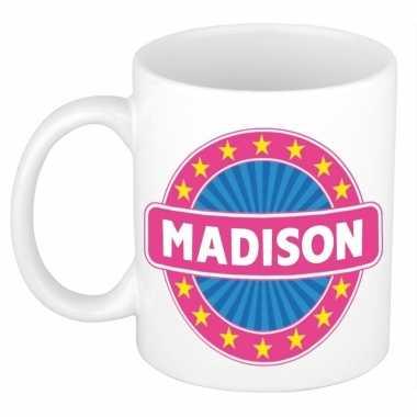 Voornaam madison koffie/thee mok of beker prijs