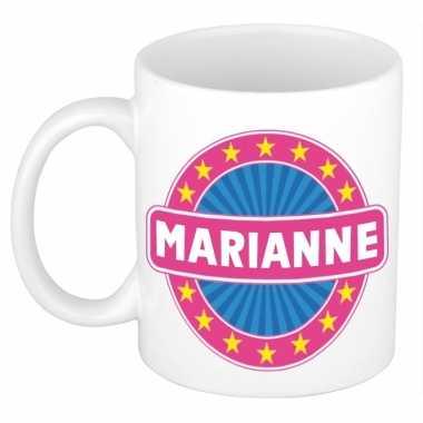 Voornaam marianne koffie/thee mok of beker prijs