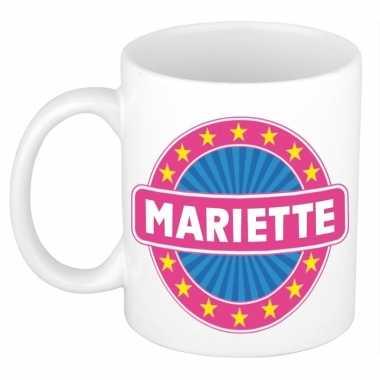 Voornaam mariette koffie/thee mok of beker prijs
