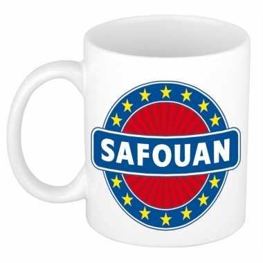 Voornaam safouankoffie/thee mok of beker prijs
