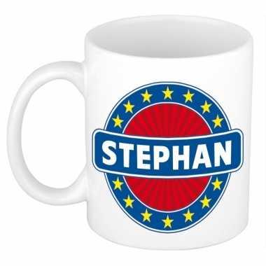 Voornaam stephankoffie/thee mok of beker prijs