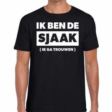 Vrijgezellenfeest bruidegom tekst t-shirt zwart heren prijs