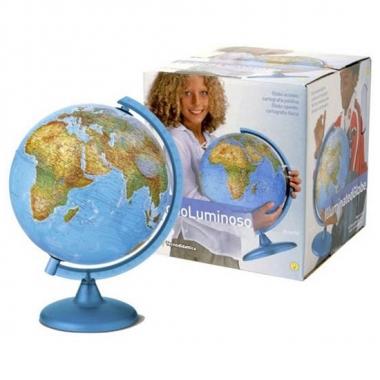 Vergelijk wereldbol 25 cm met verlichting prijs