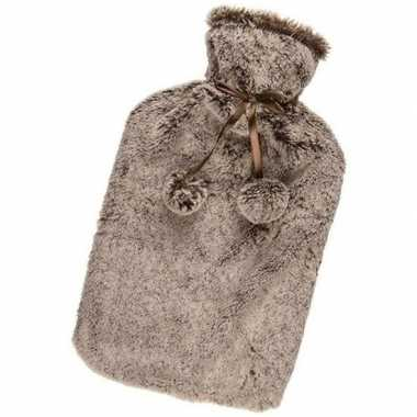 Winter kruik met bruine pluche hoes 1,7 liter prijs