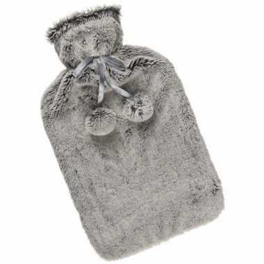 Winter kruik met grijze pluche hoes 1,7 liter prijs
