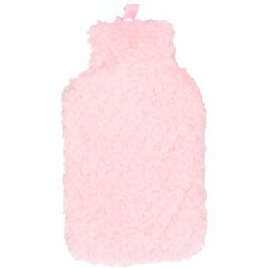 Winter kruik met roze pluche hoes 2 liter prijs