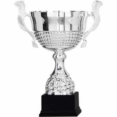 Wisselcup kampioensbeker 36 cm zilver met oren prijs
