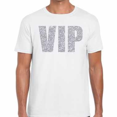 Wit vip zilver fun t-shirt voor heren prijs