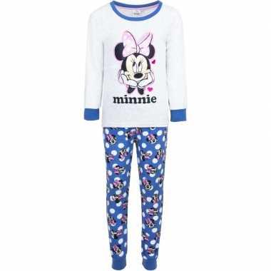 Witte disney pyjama minnie mouse met hartjes voor meisjes prijs