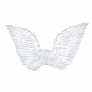 Witte engel vleugels 75 cm kostuum prijs
