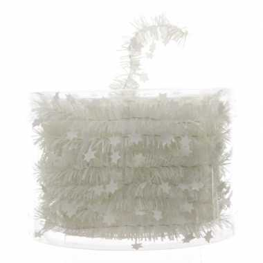 Witte feestslinger folie met ster 700 cm prijs