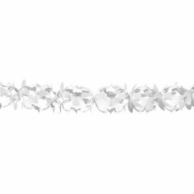 Witte feestslinger in kruisvorm 6 m prijs