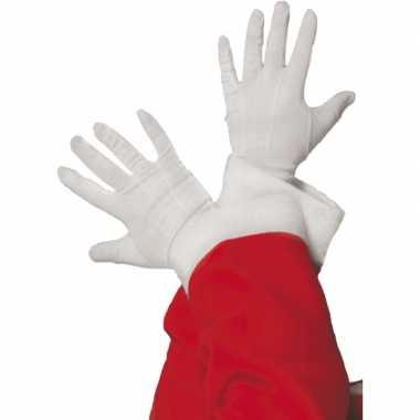 Witte kerstman handschoenen kort prijs