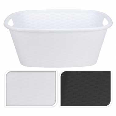 Witte kunststof wasgoed mand 35 liter prijs