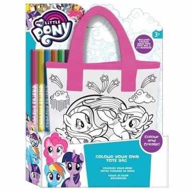 Vergelijk witte my little pony tas om in te kleuren prijs