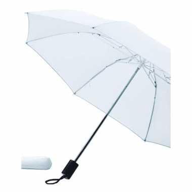 Witte paraplu uitklapbaar met hoes 85 cm prijs