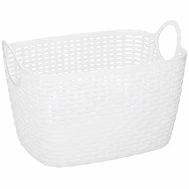 Witte plastic wasmand 29 cm prijs