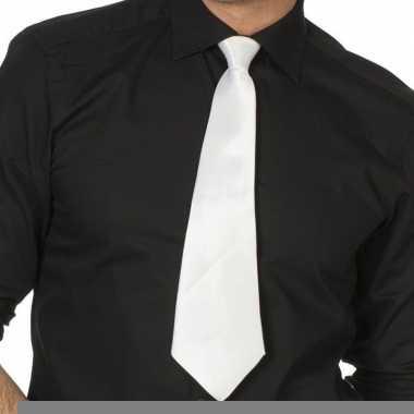 Witte verkleed stropdassen 41 cm voor dames/heren prijs