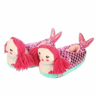 Zeemeermin sloffen/pantoffels polyester voor dames mt 38-42 prijs
