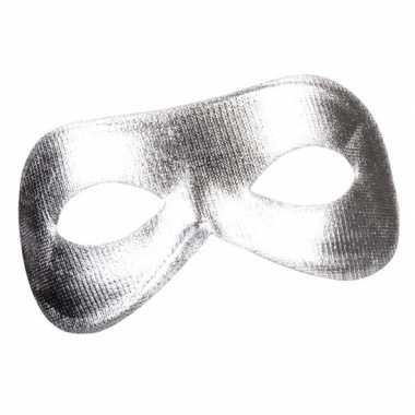 Zilver mysterieus oogmasker glimmend voor dames prijs