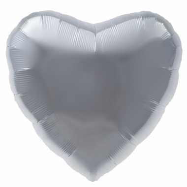 Zilveren hart helium ballon prijs