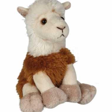 Zittende lama knuffel 15cm prijs