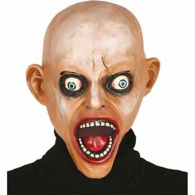 Zombie kaal horror/halloween masker van latex prijs