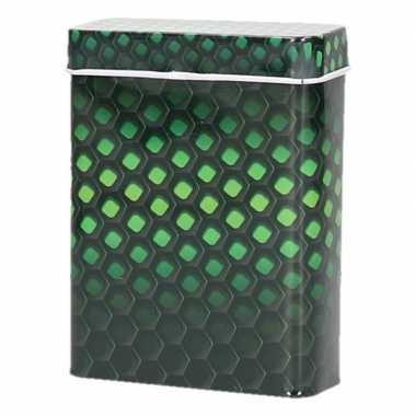 Zwart/groene metalen sigaretten blikjes prijs