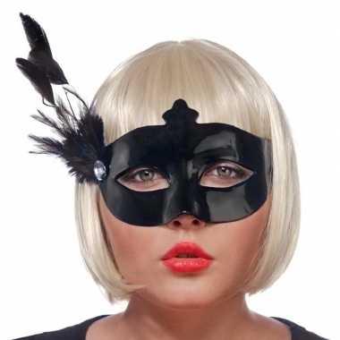 Zwart mysterieus oogmasker voor dames prijs