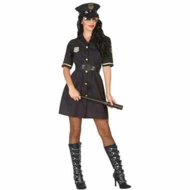 Zwart politie jurkje voor dames prijs