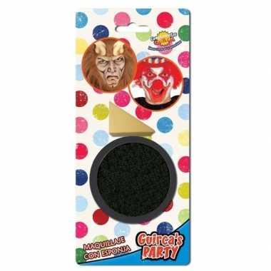 Zwarte horror schmink 9 gram inclusief sponsje prijs