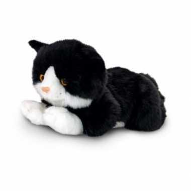 Zwarte kater katten/poezen knuffel 35 cm prijs