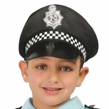 Zwarte politie pet voor kinderen prijs