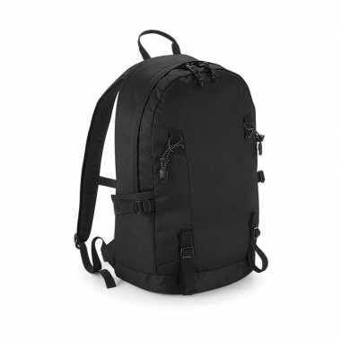 Zwarte rugtas voor wandelaars/backpackers 20 liter prijs