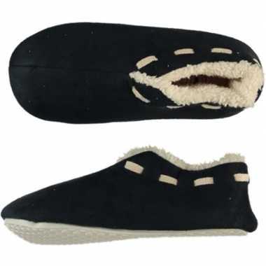 Zwarte spaanse sloffen/pantoffels stippen voor jongens maat 33-34 pri