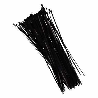 Zwarte tiewraps 28 cm 100 stuks prijs