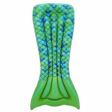 Zwembad luchtbed zeemeermin staart groen 173 x 83 cm prijs