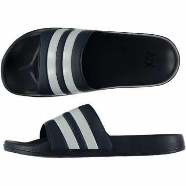 Zwembad slippers navy/wit voor heren prijs
