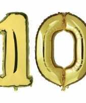 Vergelijk 10 jaar leeftijd helium folie ballonnen goud feestversiering prijs