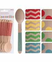 Vergelijk 100x houten duurzame wegwerp bestek lepels 16 cm prijs 10154981