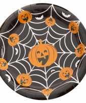 Vergelijk 10x feestbordjes pompoen spinnenweb prijs