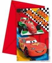 Vergelijk 12x disney cars uitnodigingen kinderverjaardag prijs