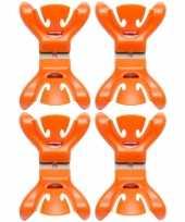 Vergelijk 12x feestversiering ophangen klemmen oranje prijs