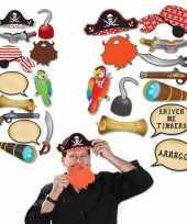 Vergelijk 12x photo booth props setje piraat thema prijs