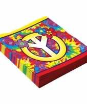 Vergelijk 16x hippie servetjes 33 cm prijs